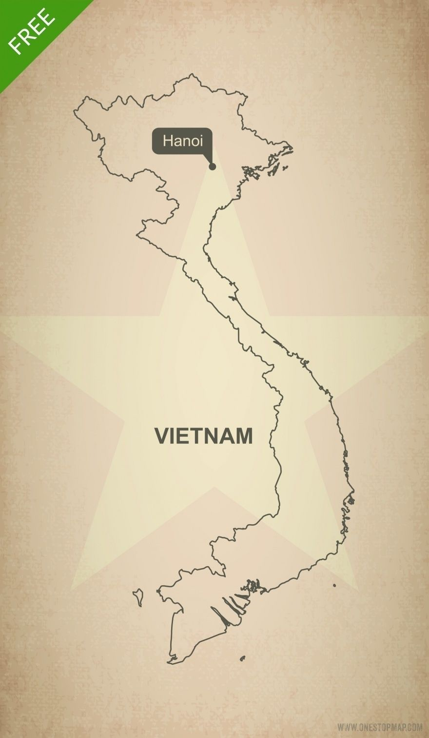 Free Vector Map Of Vietnam Outline Projects To Try Map Map