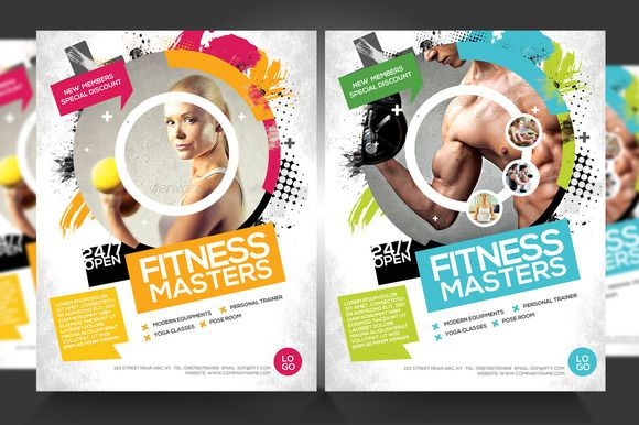 FitnessGym Business Promotion Flyer  Flyer Template