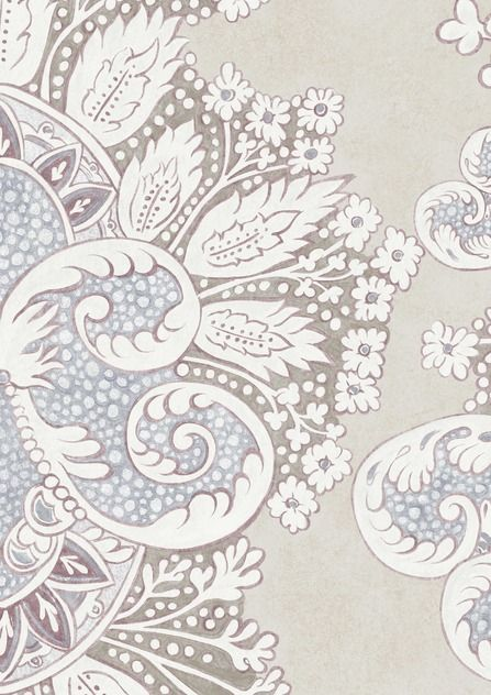Rococo Wide Width Wallpapers ALABASTER By Lewis Wood