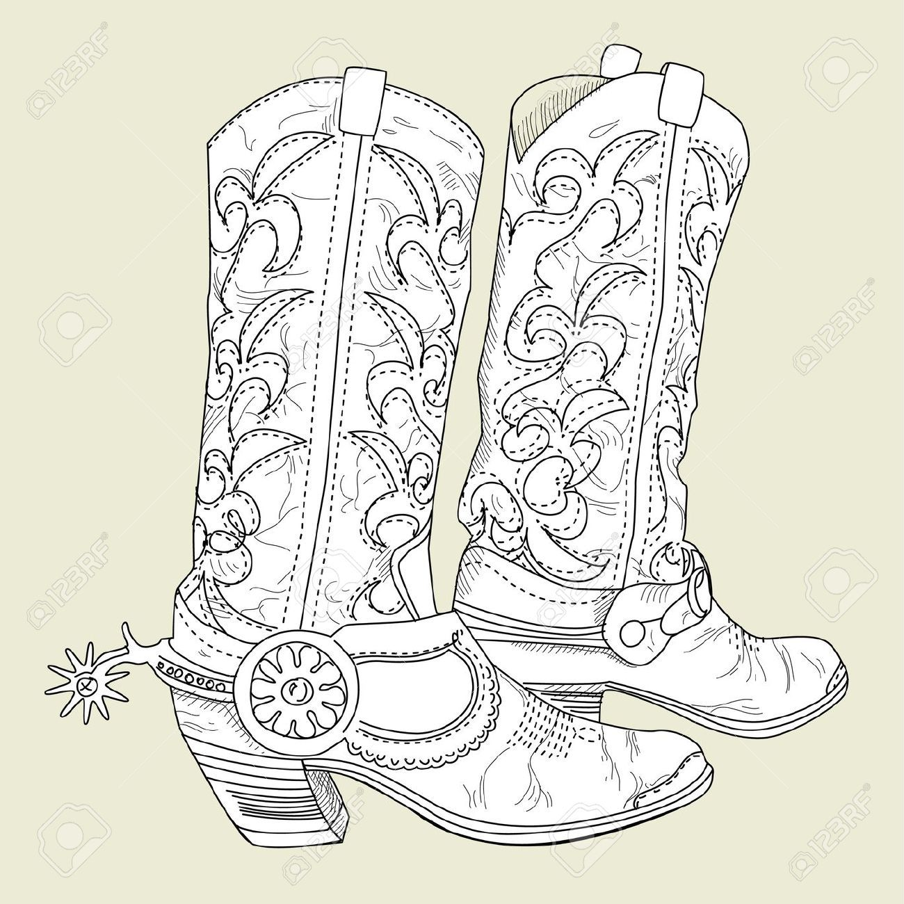 Old Cowboy Boots Royalty Free Cliparts, Vectors, And Stock ...