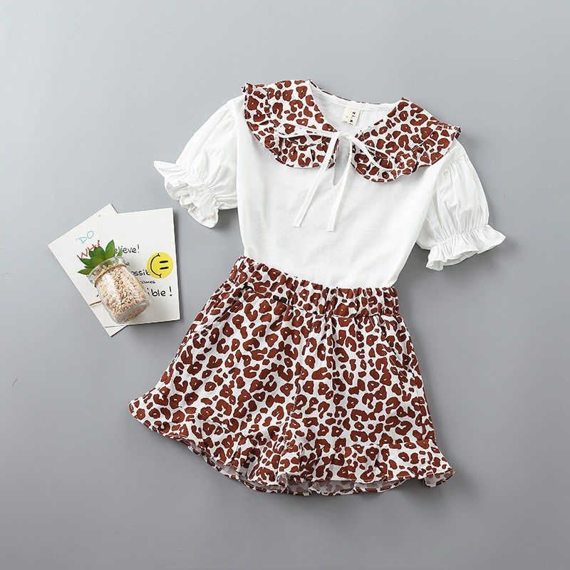 6f5a72c81 2-7 years High quality girl clothing sets 2019 new summer fashion pattern  solid kid
