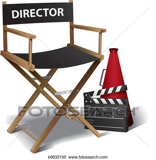 Movie Director Chair Clipart K6633150 Movie Director Clip Art Directors Chair