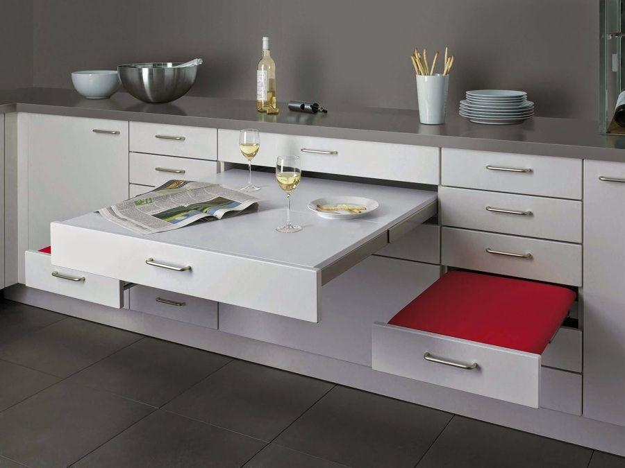 Cajones con mesa y asientos #plegable #cocina | Mesas y mesitas de ...