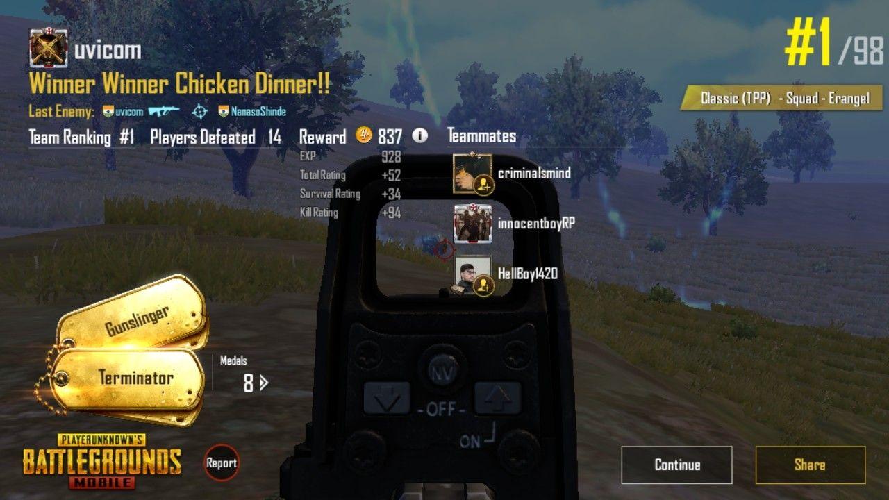 Winner Winner Chicken Dinner #PUBG #ChickenDinner