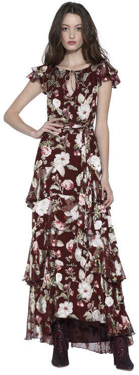 4db62ad0c4dc Alice + Olivia Jenny Flutter Sleeve Maxi Dress | Fashion - Alice ...