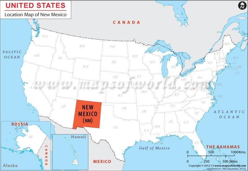 Where is New Mexico   Location map, California map ...