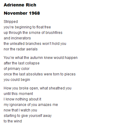 The Poetry of Adrienne Rich