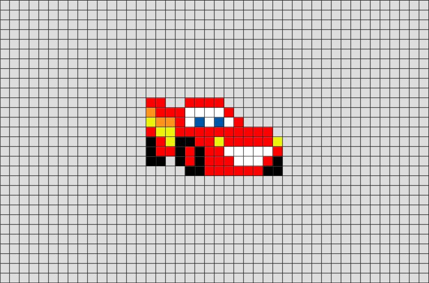Lightning Mcqueen Pixel Art Pixel Art Pixel Art Templates