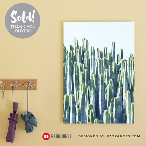Just sold a Poster of my artwork titled 'Cactus'! Order yours or see all #redbubble products carrying this design here: http://www.redbubble.com/people/83oranges/works/18415753-cactus-v2-redbubble-home-lifestyle-buyart-decor?asc=u&p=poster