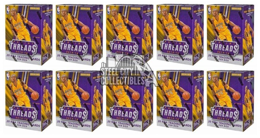 201516 panini threads basketball blaster 10box lot
