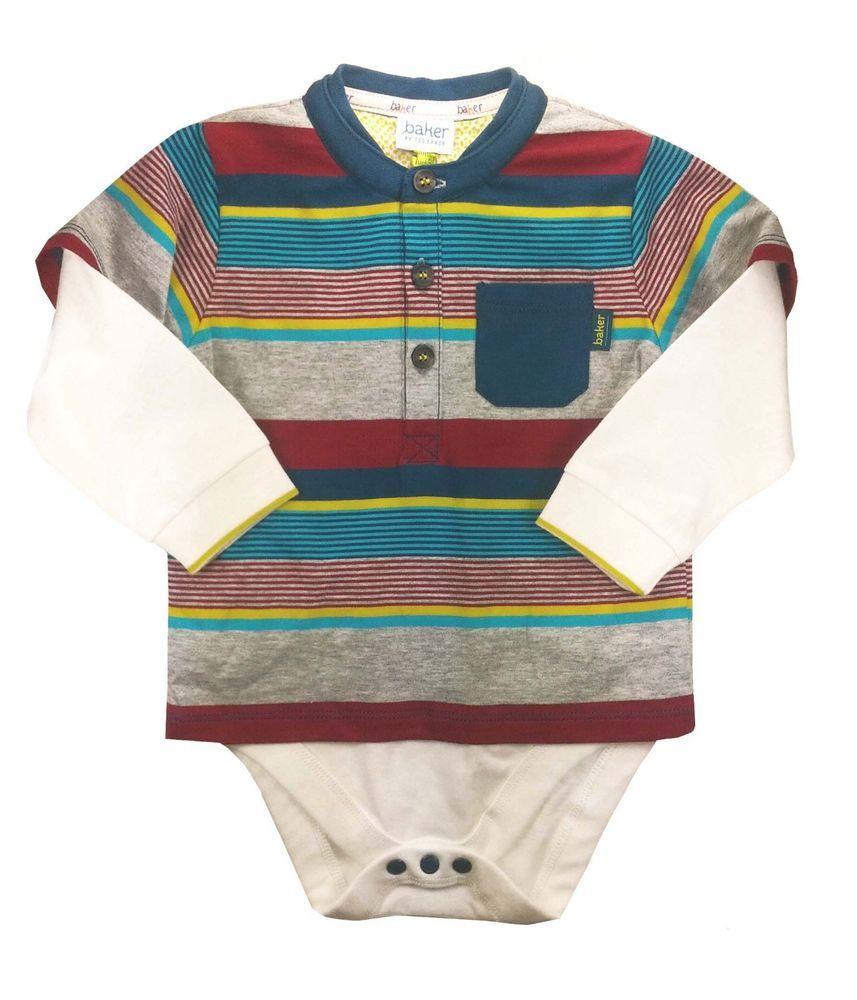 61f25c4b72e9b1 Details about Ted Baker Baby Boys Romper Bodysuit Striped Designer ...