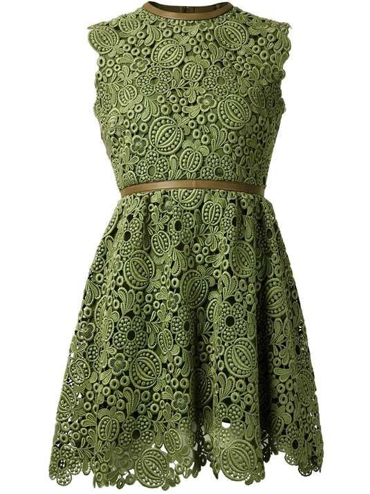 Love the Valentino VALENTINO leaf lace dress on Wantering.
