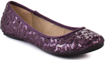 Purpleflats. . .match my heels perfectly!!  Might have to get these for when my feet get tired.