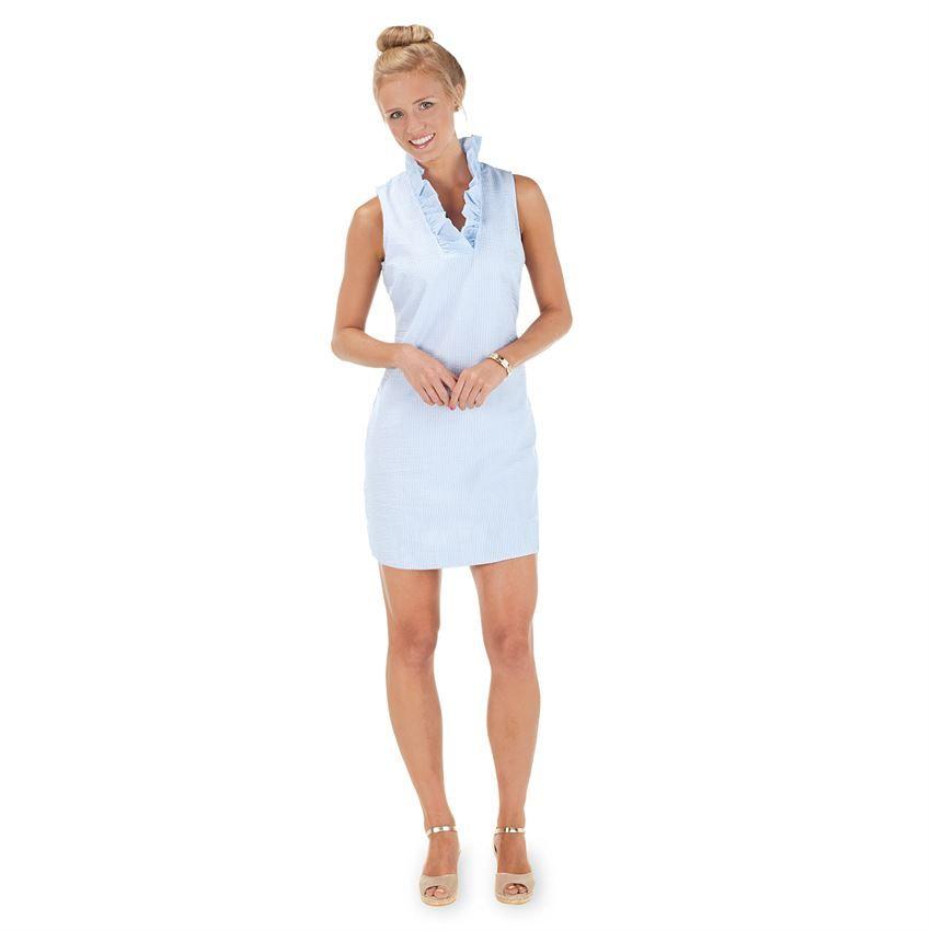 Sailor Seersucker Dress Blue Seersucker -Assortment, Mudpie, Mud ...