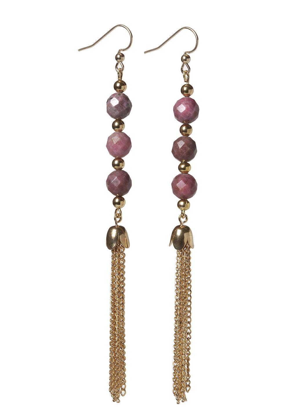Pink Tassel Earrings  #fall #jewelry #Earrings
