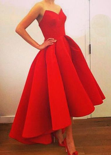 Solid Red Prom Dresses