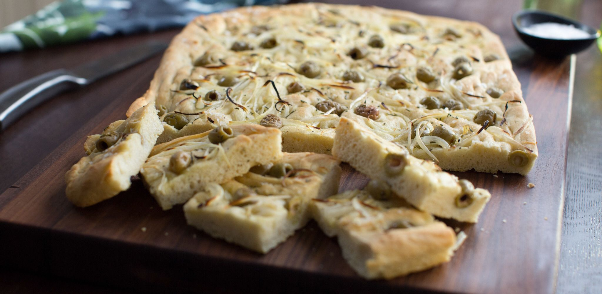 Olive And Rosemary Focaccia By Valerie Bertinelli In 2020 Food Network Recipes Rosemary Focaccia Focaccia