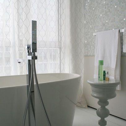love the glitz in the tile | mosaic bathroom tile, glass