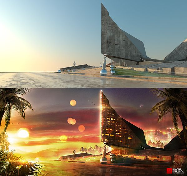 Image Result For Matte Painting Before And After
