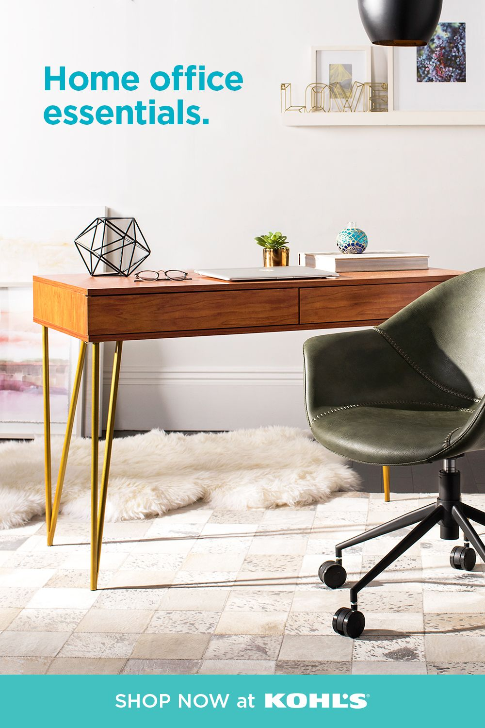 Create A Serene Office Space At Home With Stylish Essentials