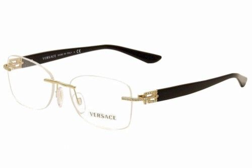 eb8f2ae339 Versace Women s Eyeglasses VE 1225B 1225-B 1002 Gold Black Optical Frame  53mm