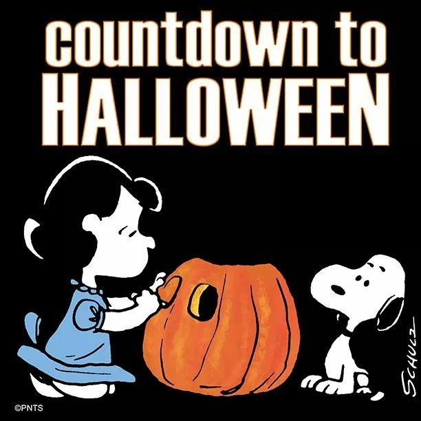 Countdown To Halloween Snoopy HalloweenHappy