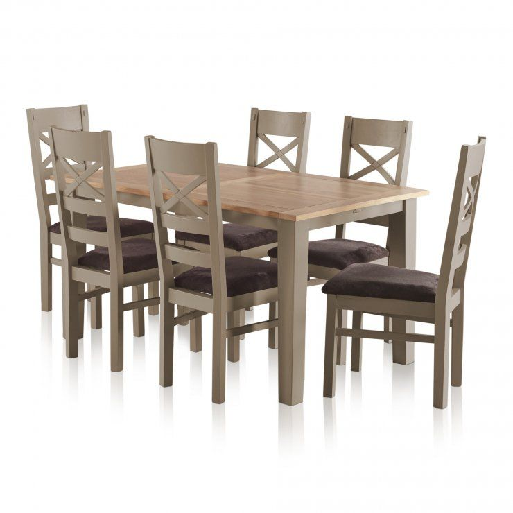 The Ideal Dining Table For Everyday Dining While Being Great For Seating Visiting Friends And Family Grey Dining Tables Dining Table Extendable Dining Table