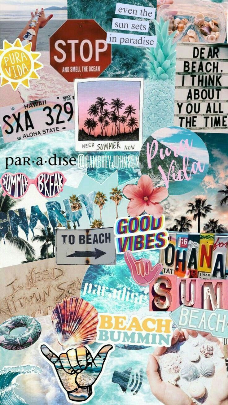 Dear Beach I Think About You All The Time Beach Timex1f919 X1f3d6xfe0fdear Hintergrund Iphone Niedliche Hintergrundbilder Collage Poster