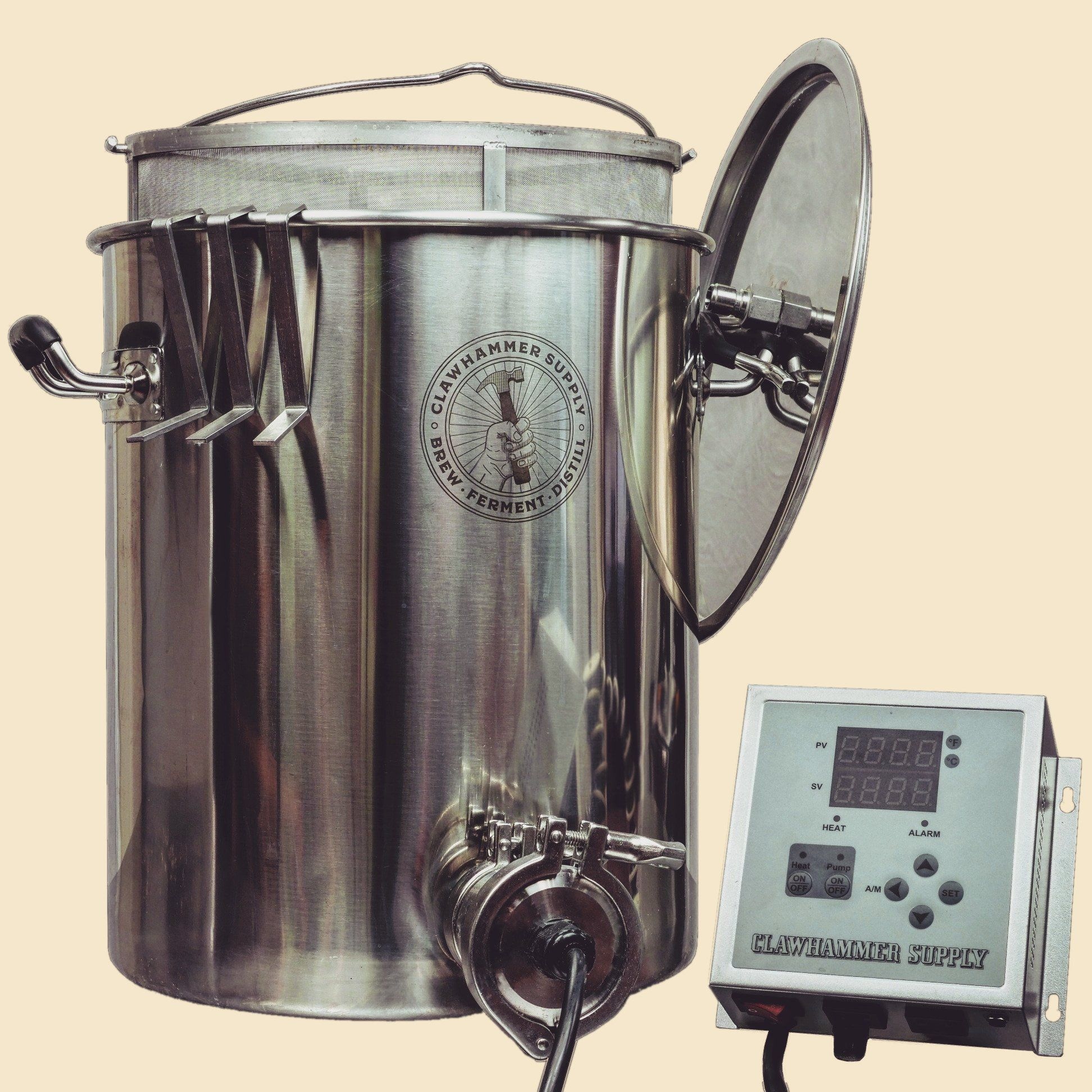 10 Gallon Electric Home Brewing System 120v Biab Home Brewing Home Brewery Brewing