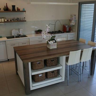 Modern Island Kitchen Design Ideas Pictures Remodel And Decor Portable Kitchen Island Kitchen Island Dining Table Kitchen Table With Storage