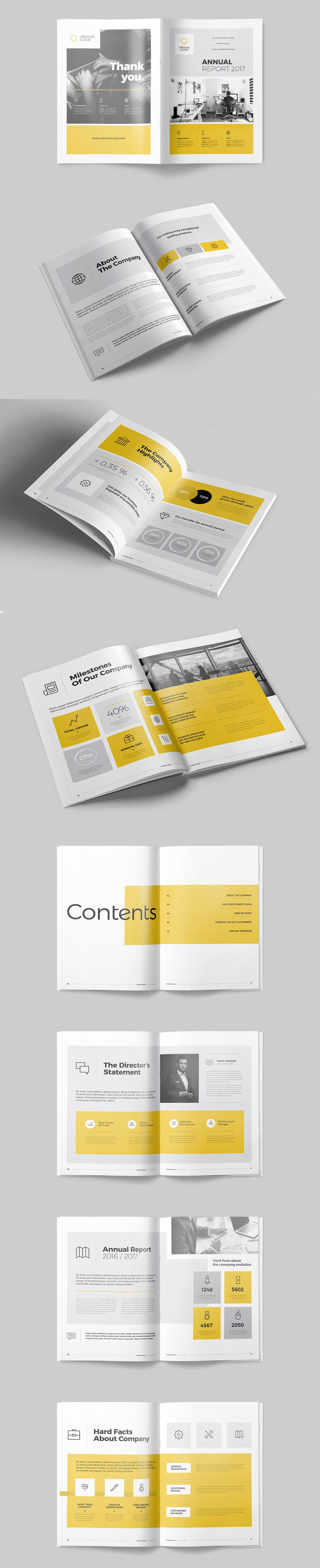 Annual Report Brochure Template InDesign INDD - 16 Pages | LAYOUT ...