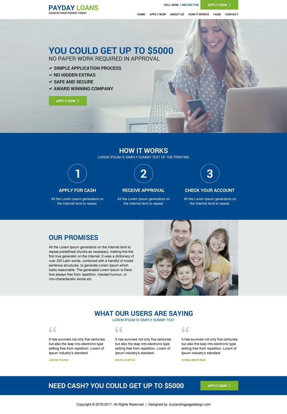 Responsive, professional and modern website designs | payday loans.