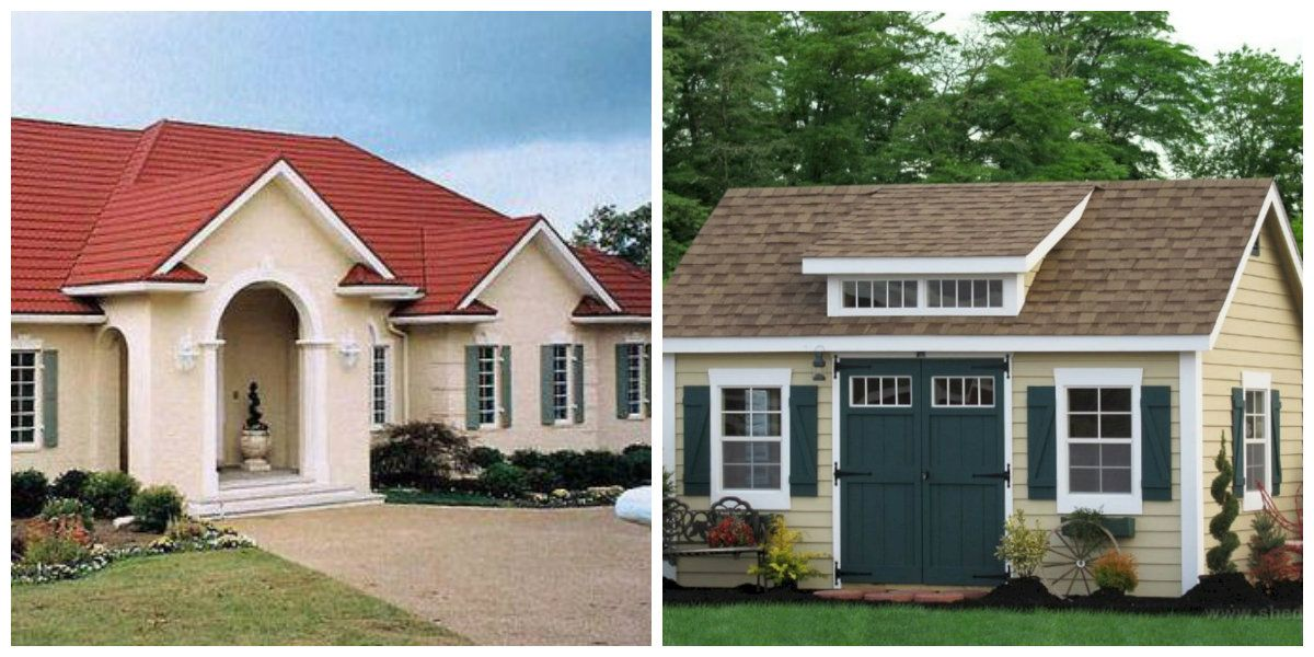 Exterior Paint Colors 2019 Red Roof Brown Roof In Exterior Paint Colors 2019 House Paint Exterior House Exterior Color Schemes Exterior House Color