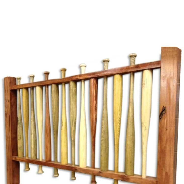 Log Bed Baseball Bat Headboard