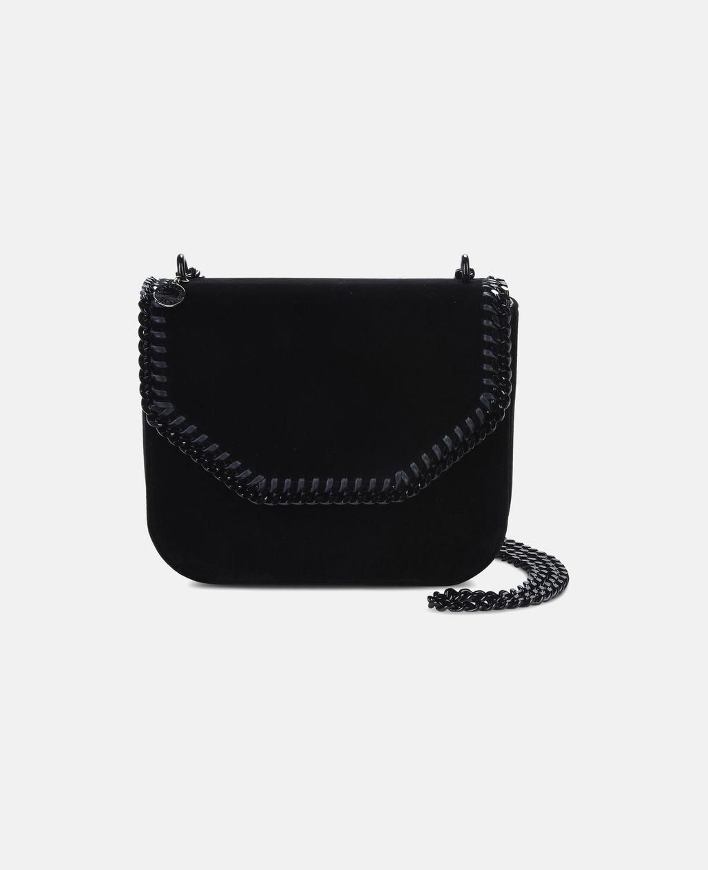 Velvet Black Falabella Box Large Shoulder Bag - STELLA MCCARTNEY  b5d6b36485d15