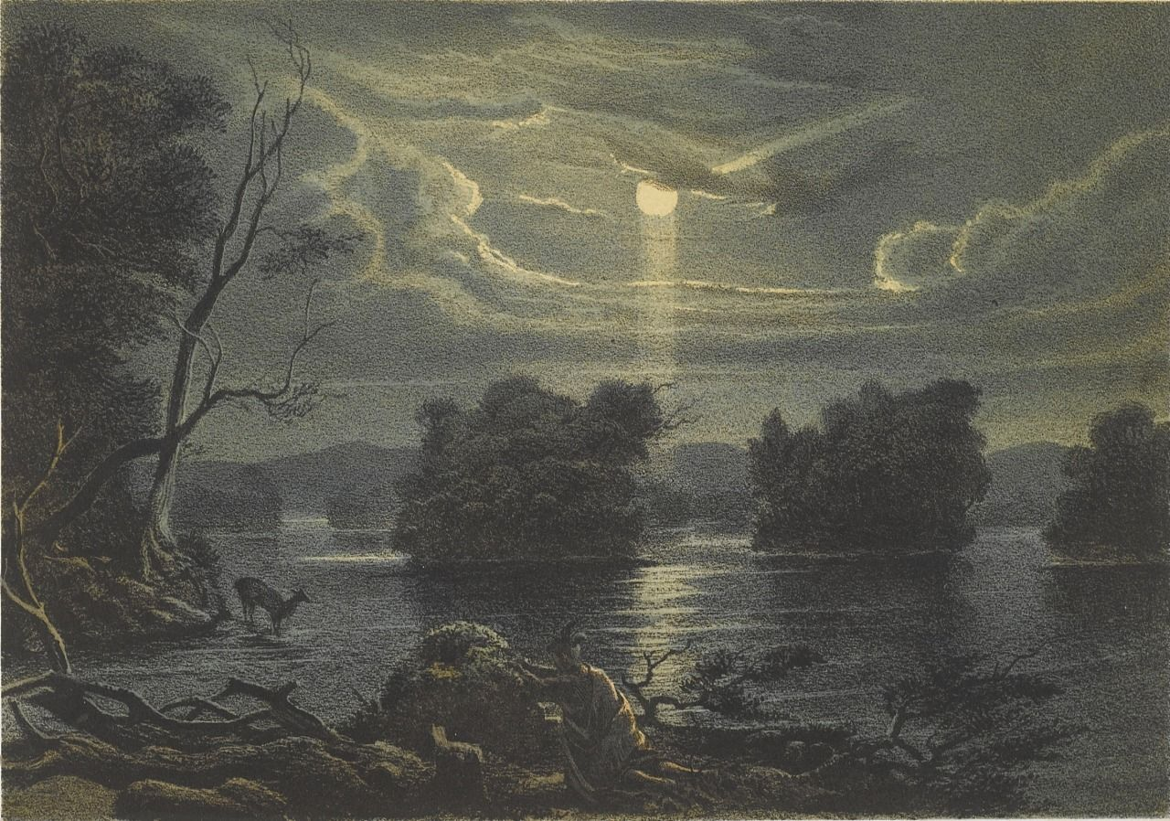 Henry Lewis, Hunting Deer by Moonlight c.1854-158