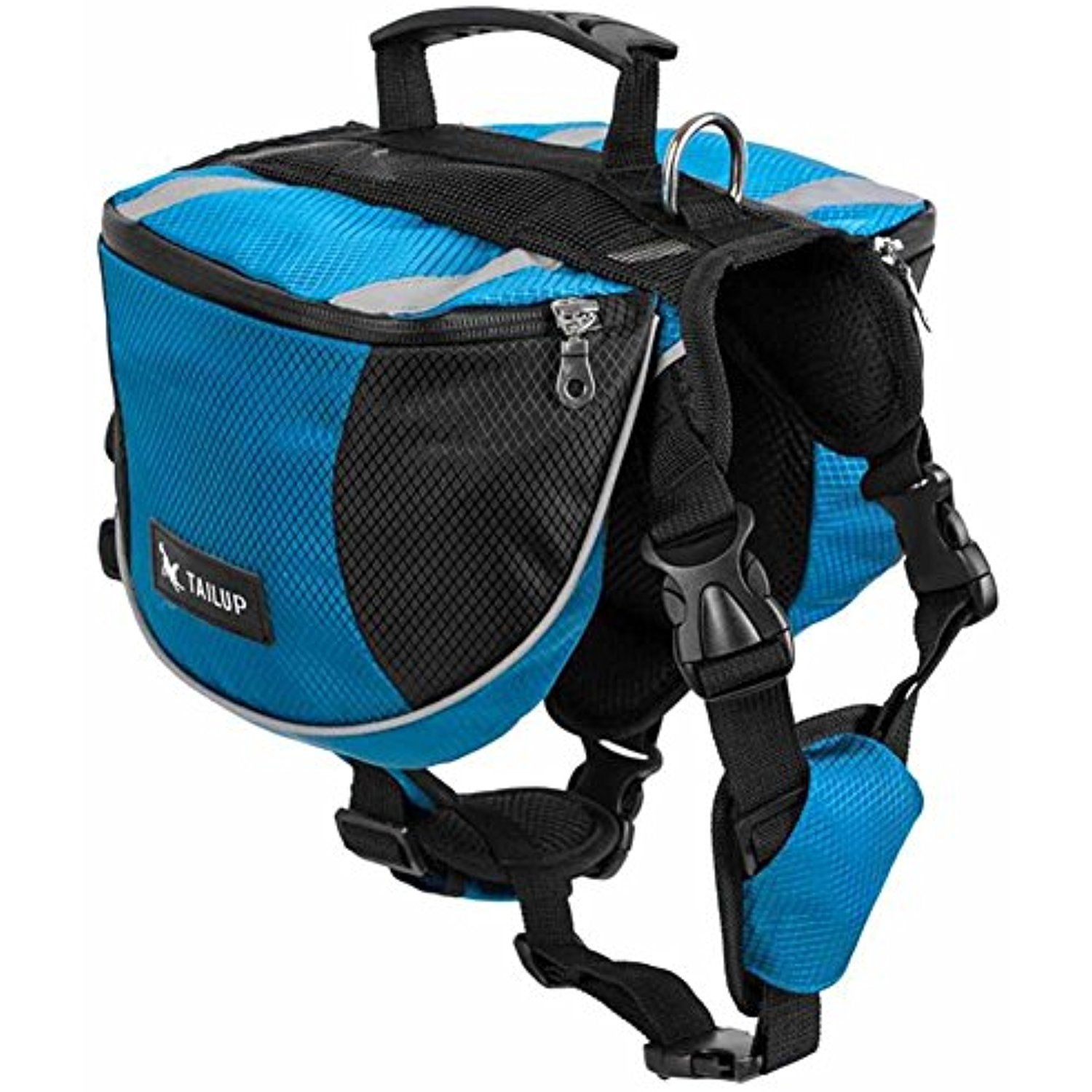 BUYITNOW Pet Backpack Medium Dog Adjustable Saddlebag