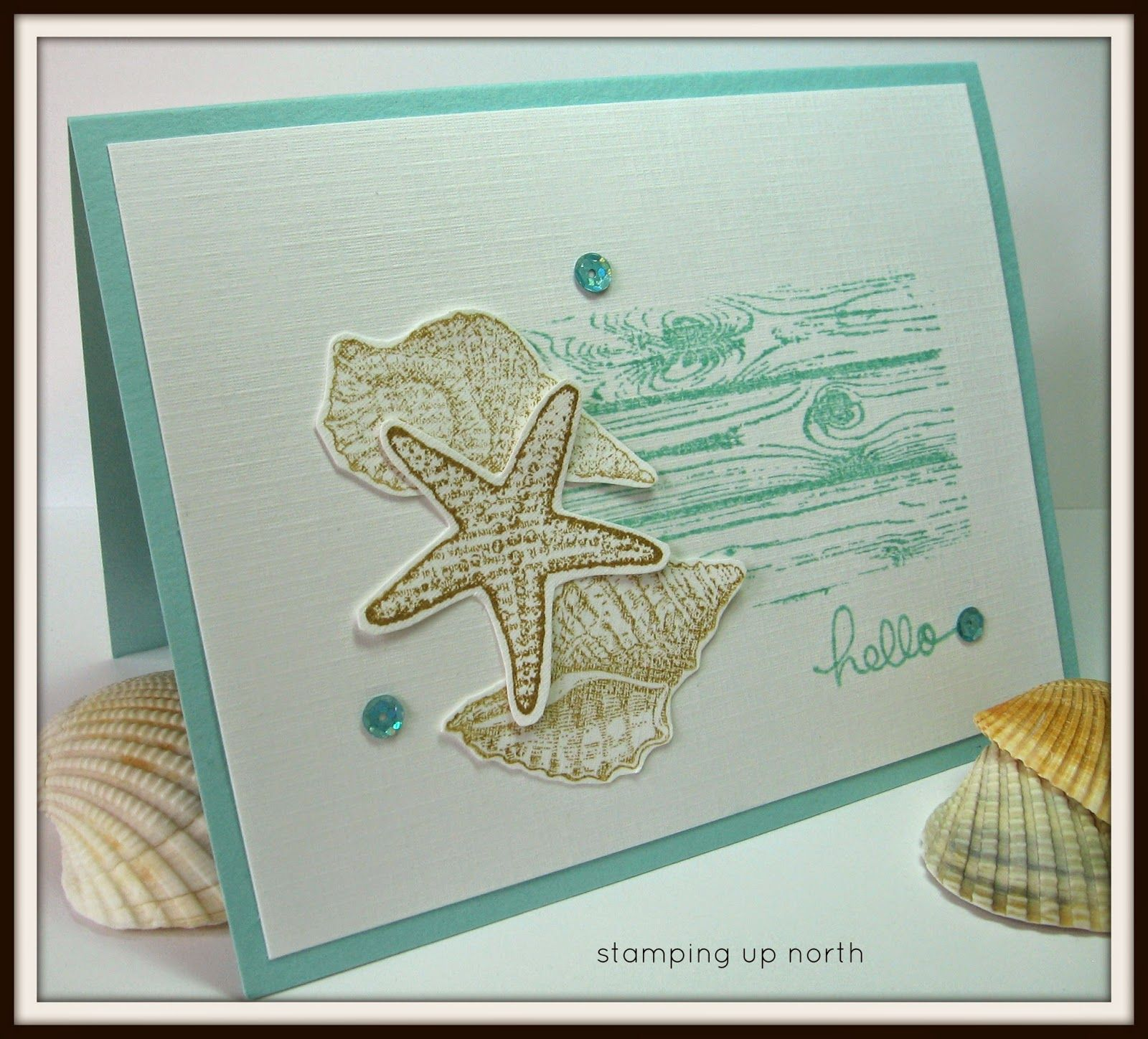 Beach Theme Card Stock: Stamping Up North: Paper Players...beach Theme Challenge