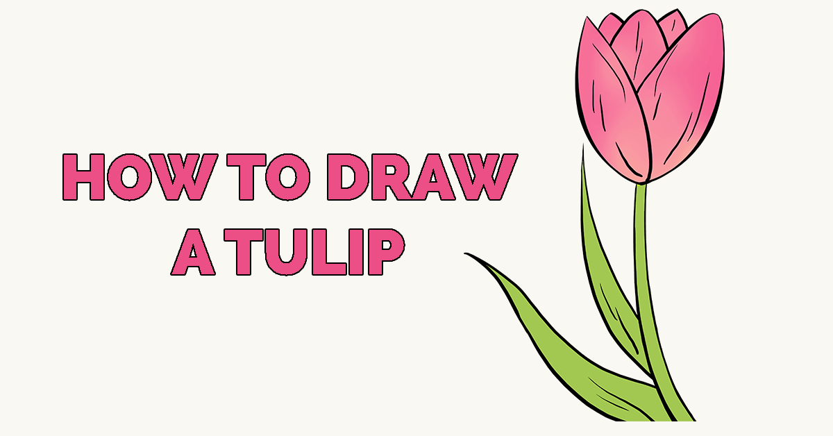 How To Draw A Tulip Really Easy Drawing Tutorial Drawing Tutorial Easy Drawing Tutorial Easy Drawings