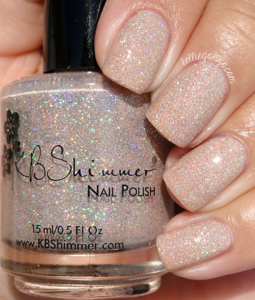 Kbshimmer A Hint Of Manila Kelliegonzoblog Nail Polish Tan Nails Sparkle Nails