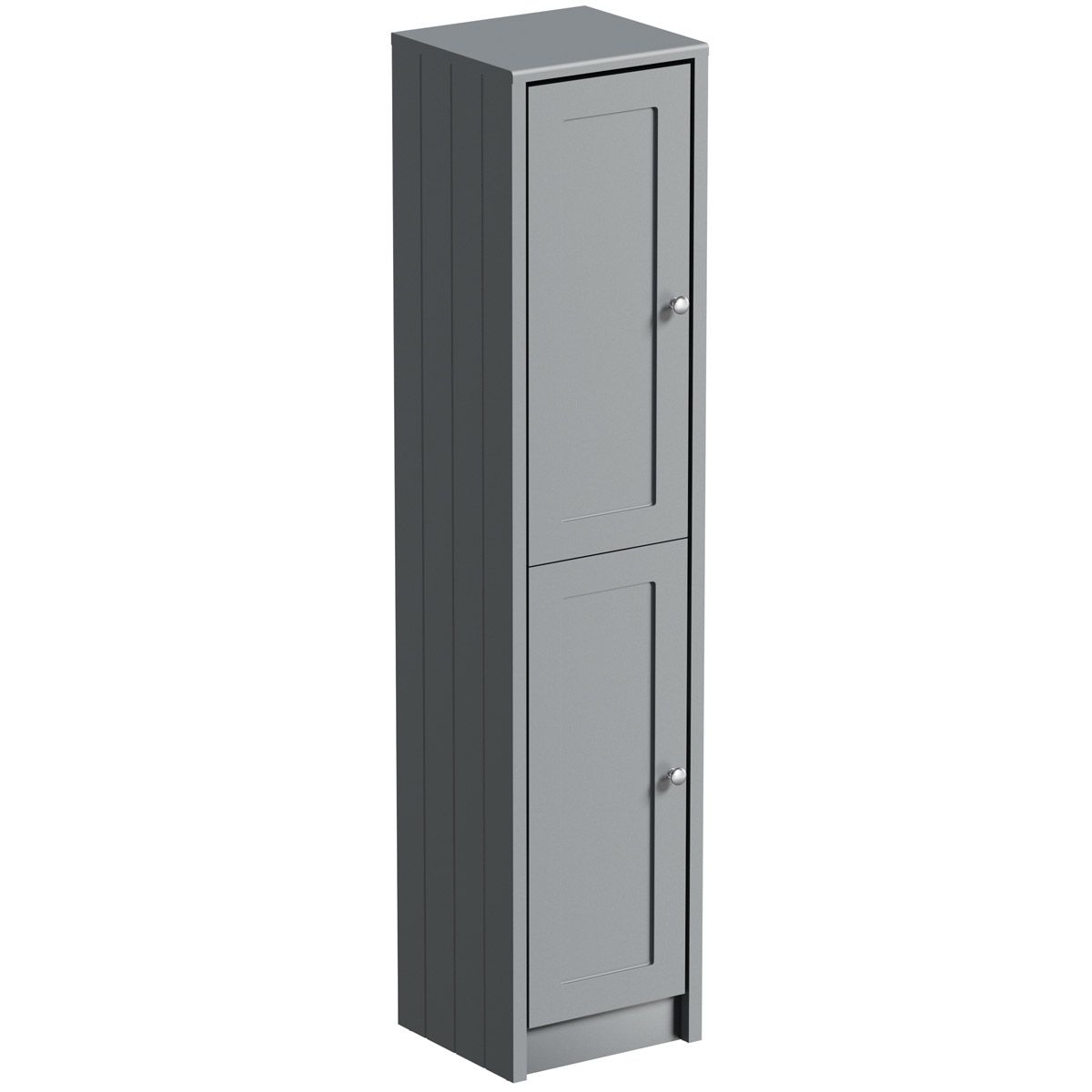 The Bath Co Dulwich Stone Grey Tall Storage Unit 1603 X 350mm Tall Storage Unit Bathroom Storage Units Grey Bathroom Furniture