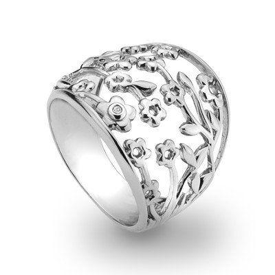 Hot Diamonds Shades of Spring Blossom Ring