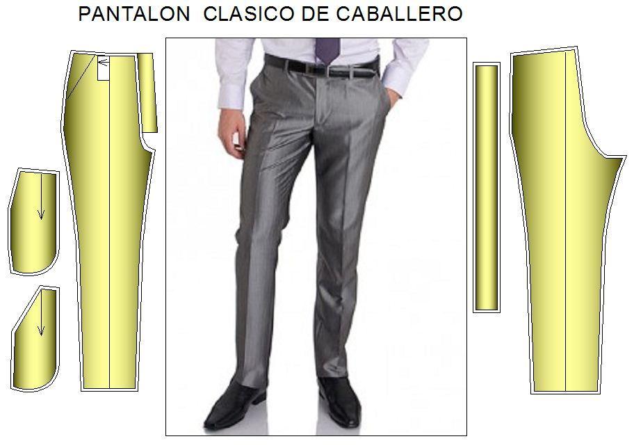 Pantalon Moda Hombre Modelo Mas Ajustado Moldes De