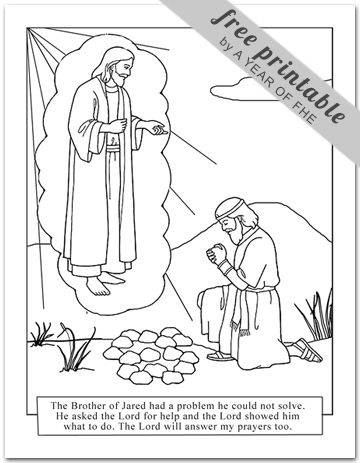 Year 03 Lesson 25 The Brother Of Jared Lds Coloring Pages Fhe