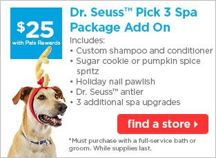 25 Dr Seuss Pick 3 Spa Package Add On Find A Store Dog Bath
