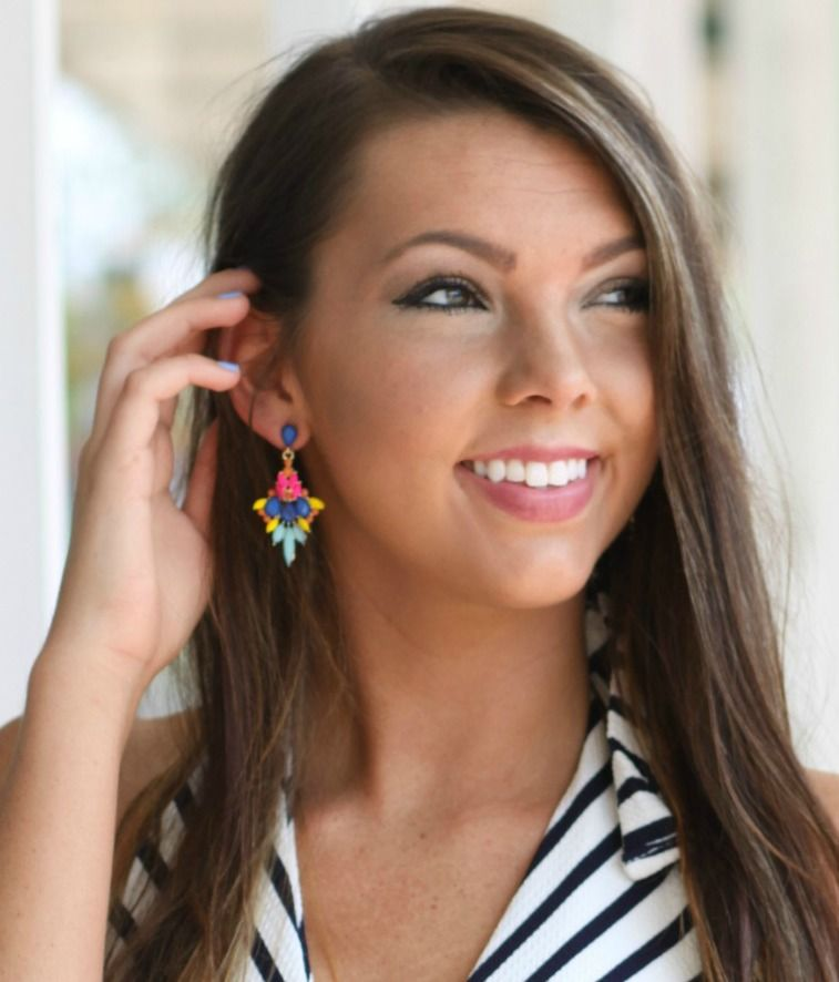 Add a pop of color to your look! These earrings have so many colors you can play with!