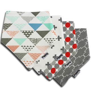 Super Fun Fashion For Baby: Baby Bandanna Bibs 4 pack by Pippsy - Amy and Aron's Real Life Reviews