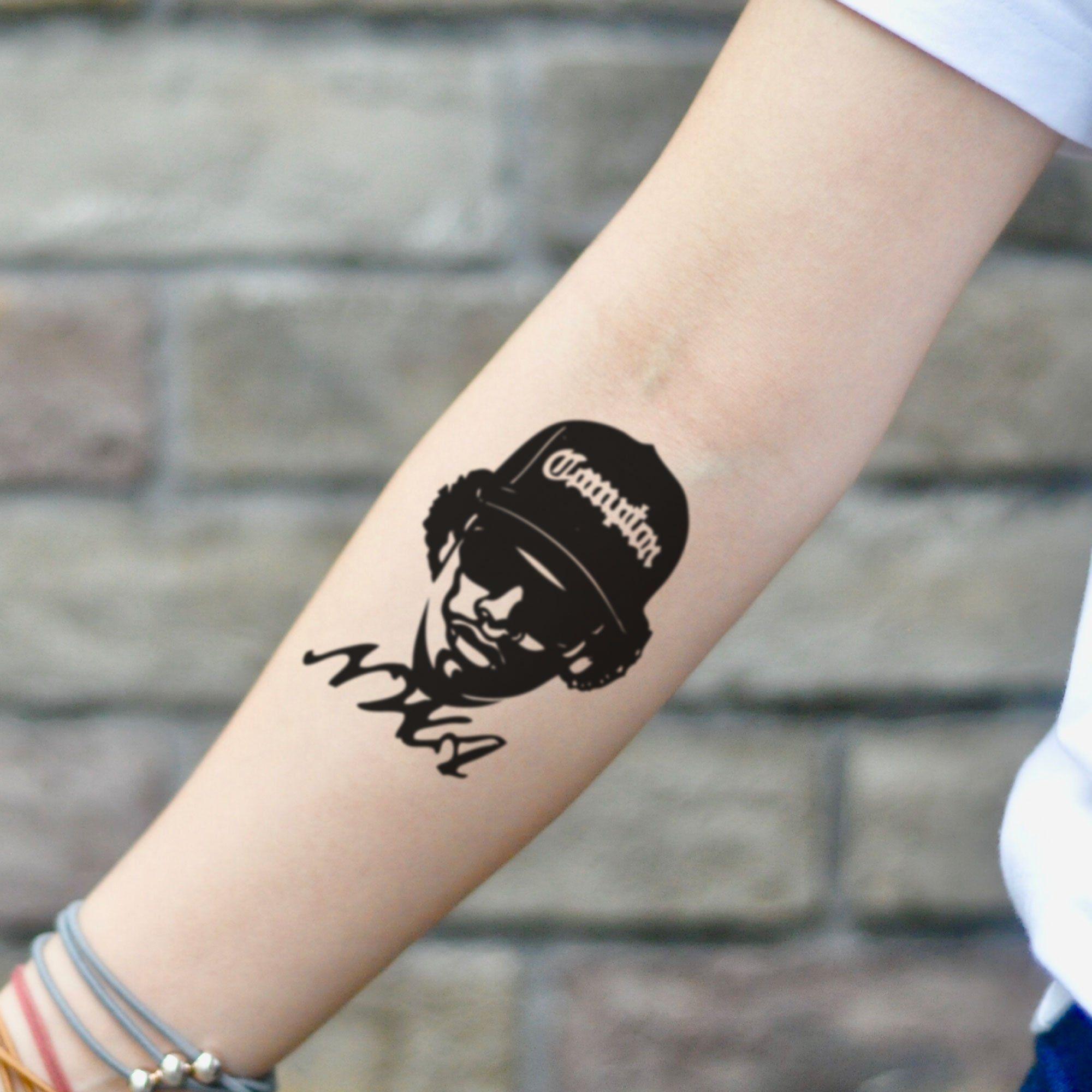 Eazy E Temporary Tattoo Sticker Set Of 2 In 2020 Metal Tattoo Tattoo Stickers Tattoos