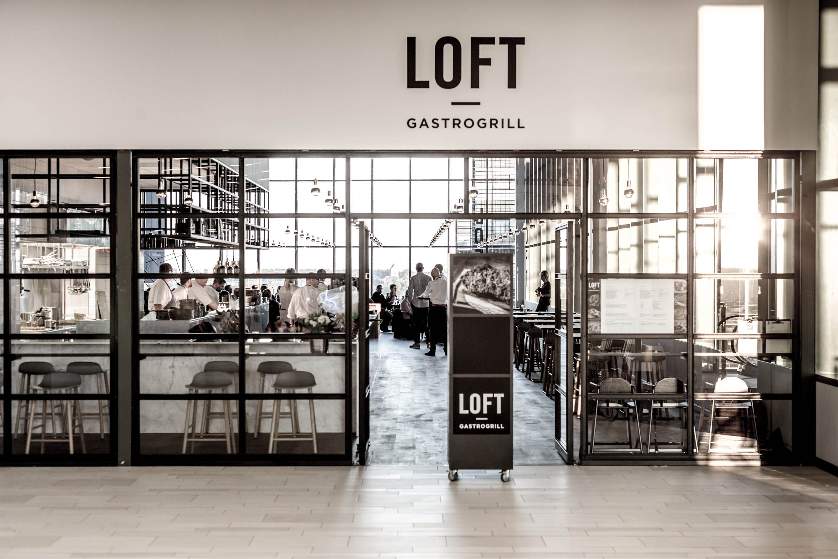 form barstools industrial restaurant loft in copenhagen | normann
