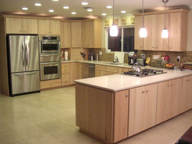 Maple kitchen cabinets contemporary inspiration 66131 for Maple kitchen ideas